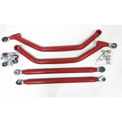 Комплект задних усиленных гнутых красных рычагов Polaris RZR XP 900 2011-2014 1542940-293 + 1542941-293 /1543377-293